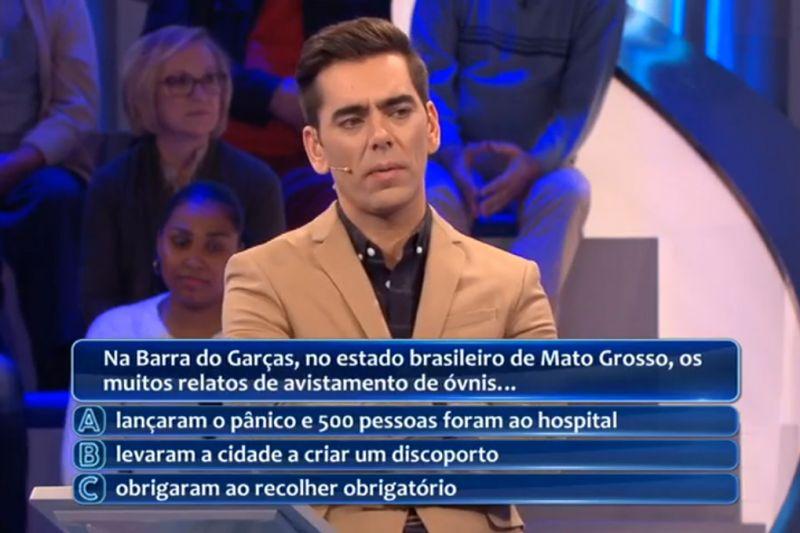 Pergunta sobre Barra do Garças no game show português