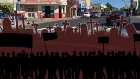 Manifestação contra mortes no trânsito