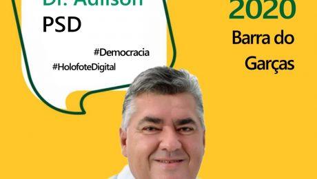 Entrevista com o candidato a prefeito de Barra do Garças, Dr. Adilson